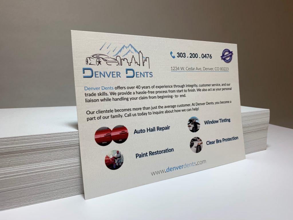 Denver Dents - Promotional Card 1