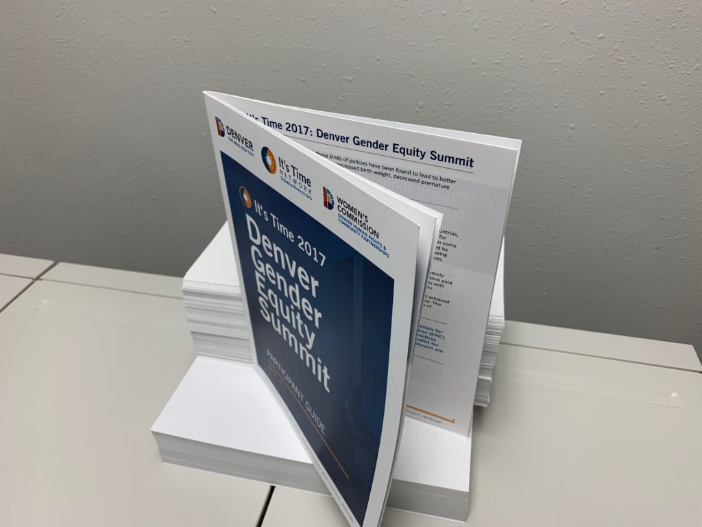 Folded and Stapled Booklet