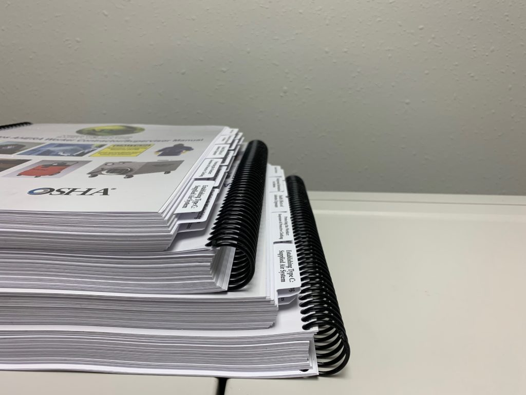 Spiral Bound Book With Printed Mylar Tabs
