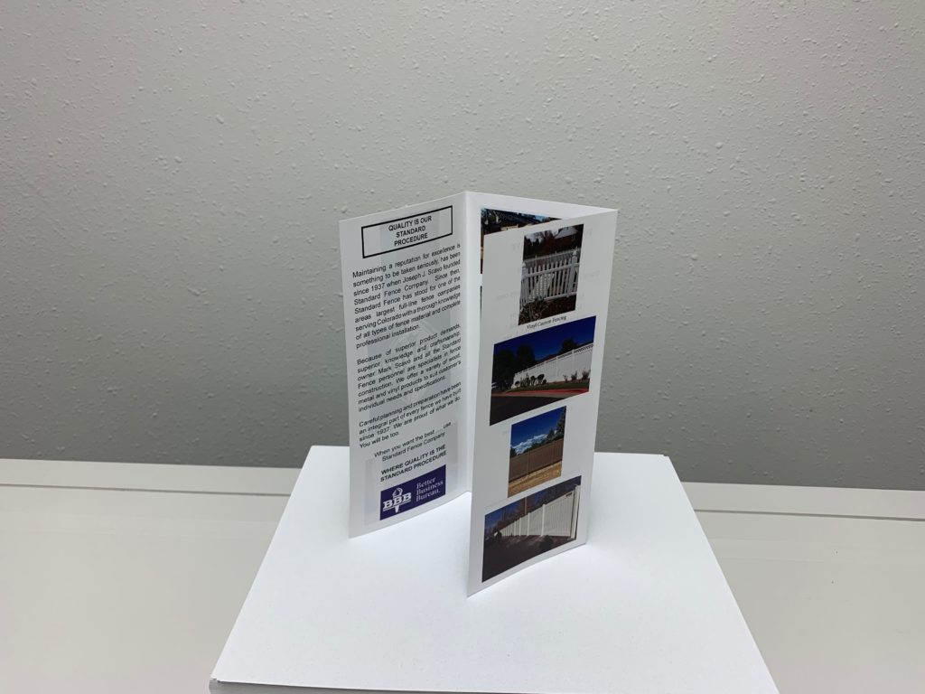 UV Coated Tri-Fold Brochure