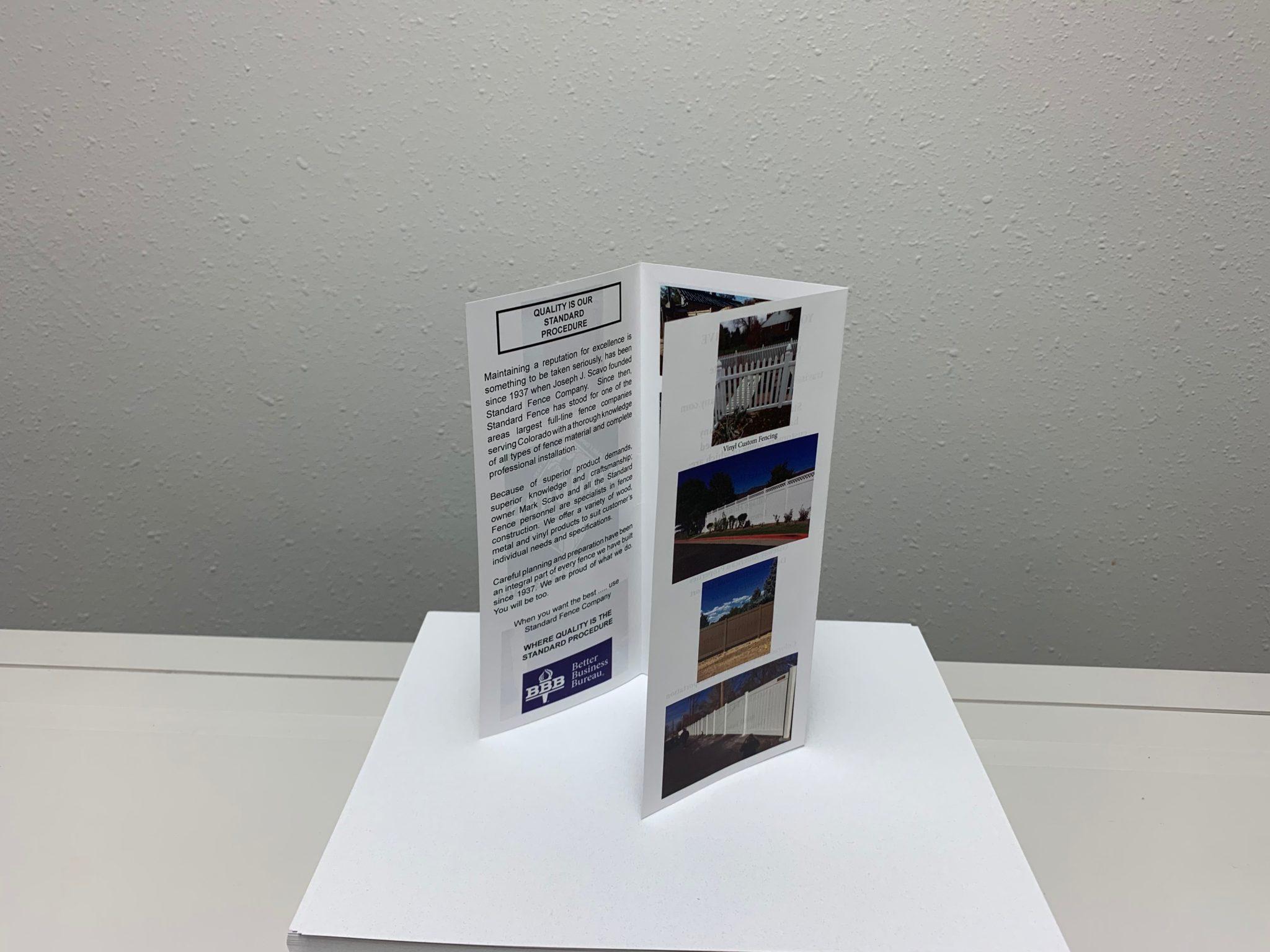 UV Coated Tri-Fold Brochure