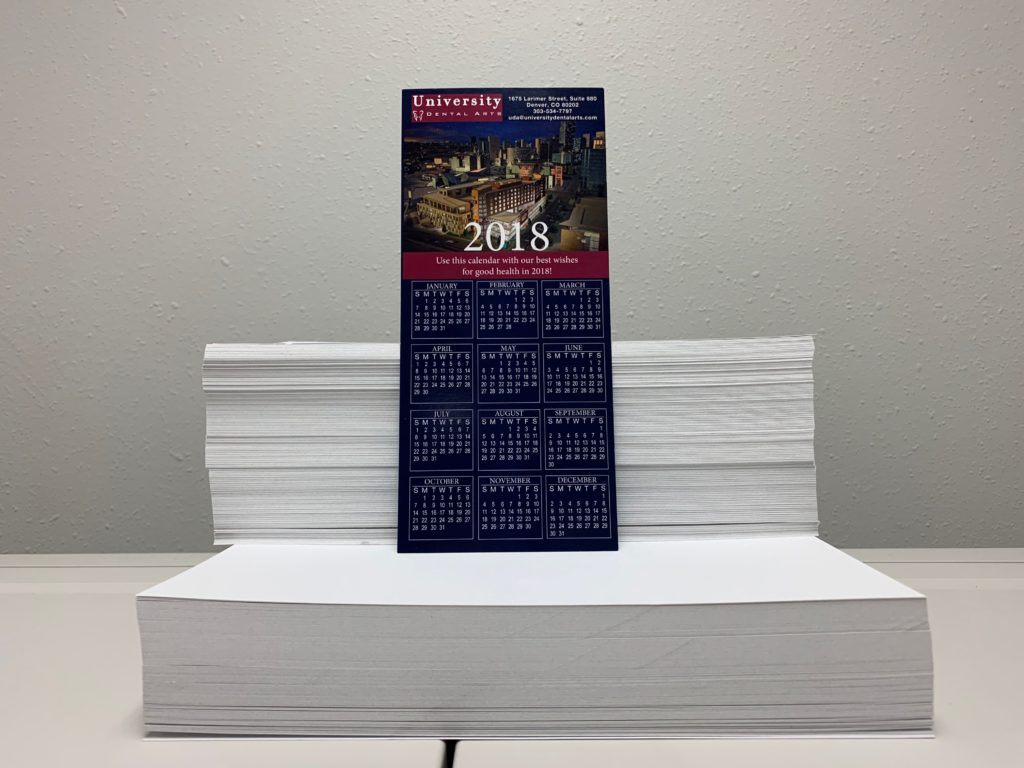 UV Coated Calendar Card