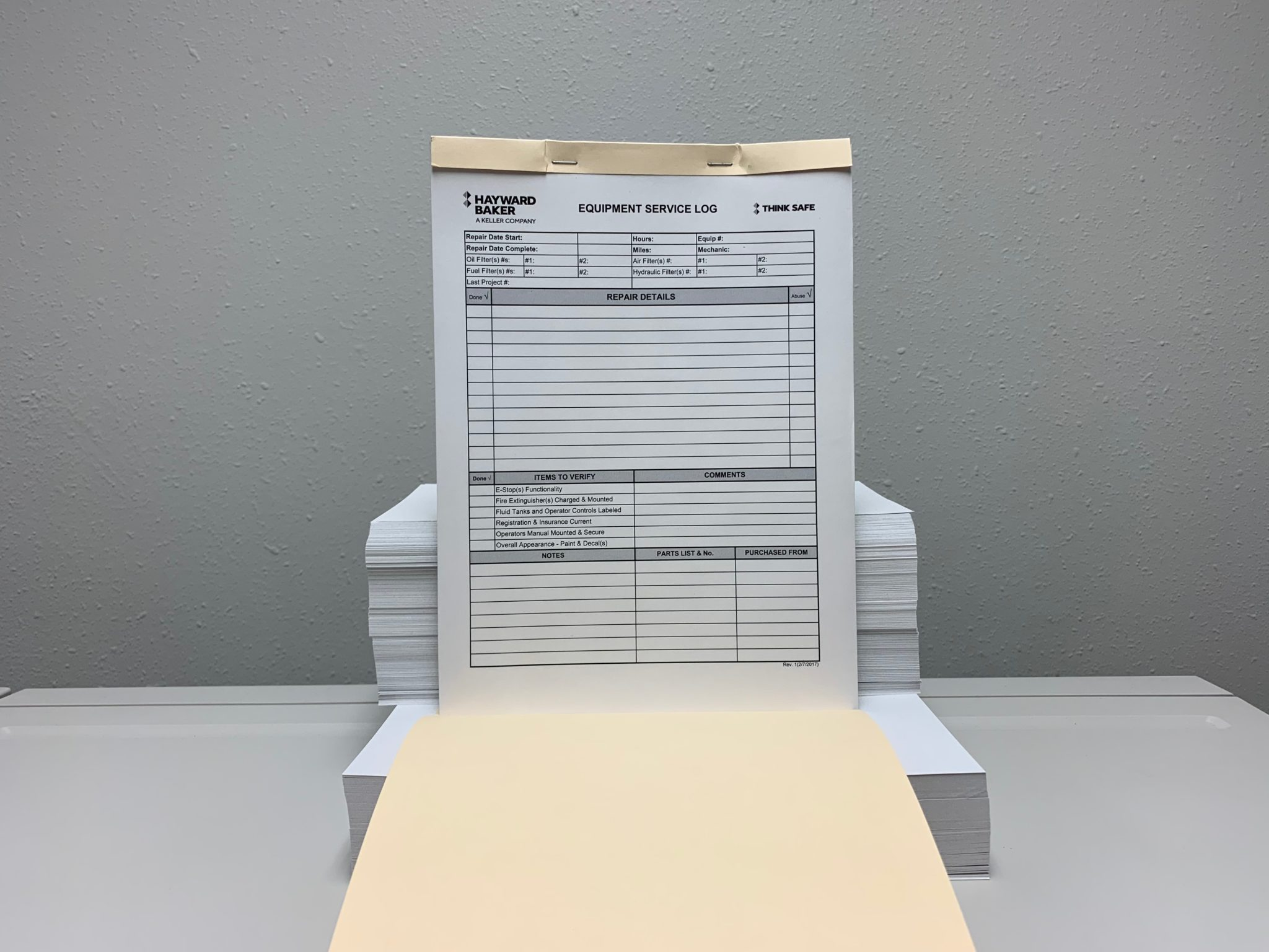 Pad of Carbonless Forms