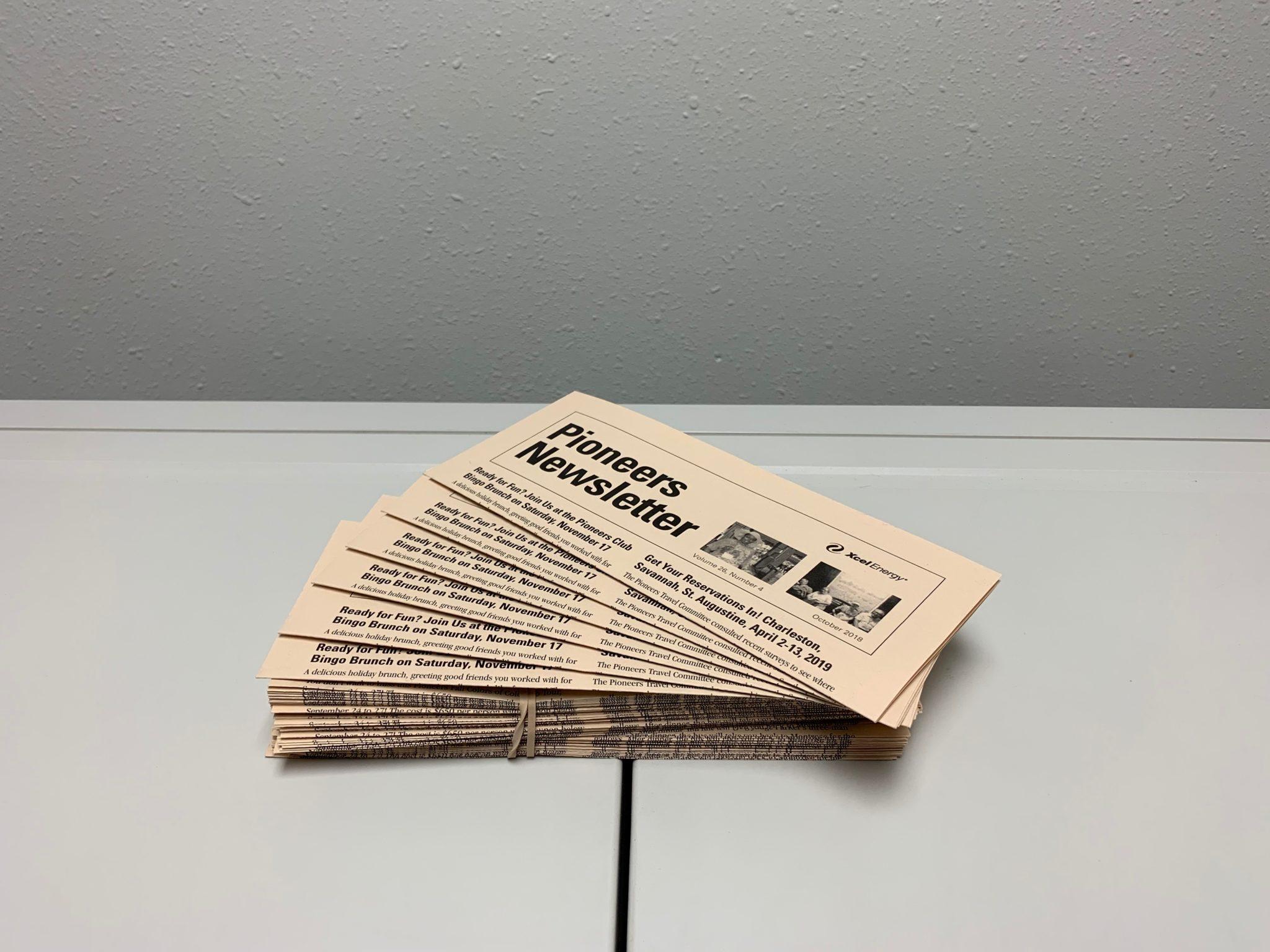 Tri-Folded Newsletter