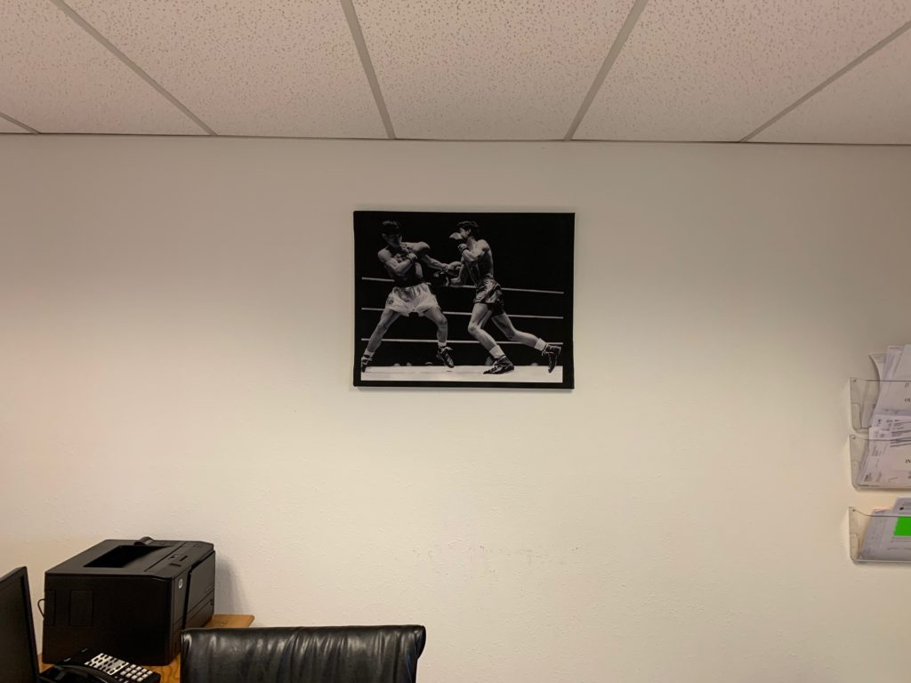 Framed Photograph of Boxing