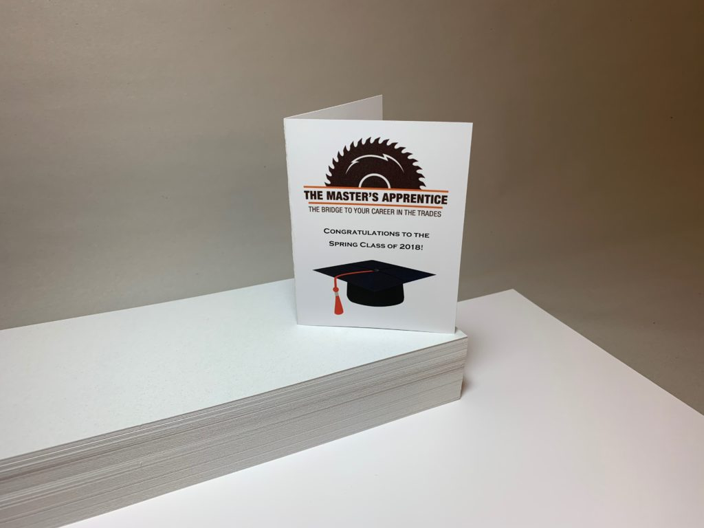 Folded Graduation Announcement