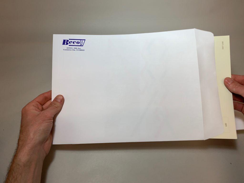 Large Branded Envelope