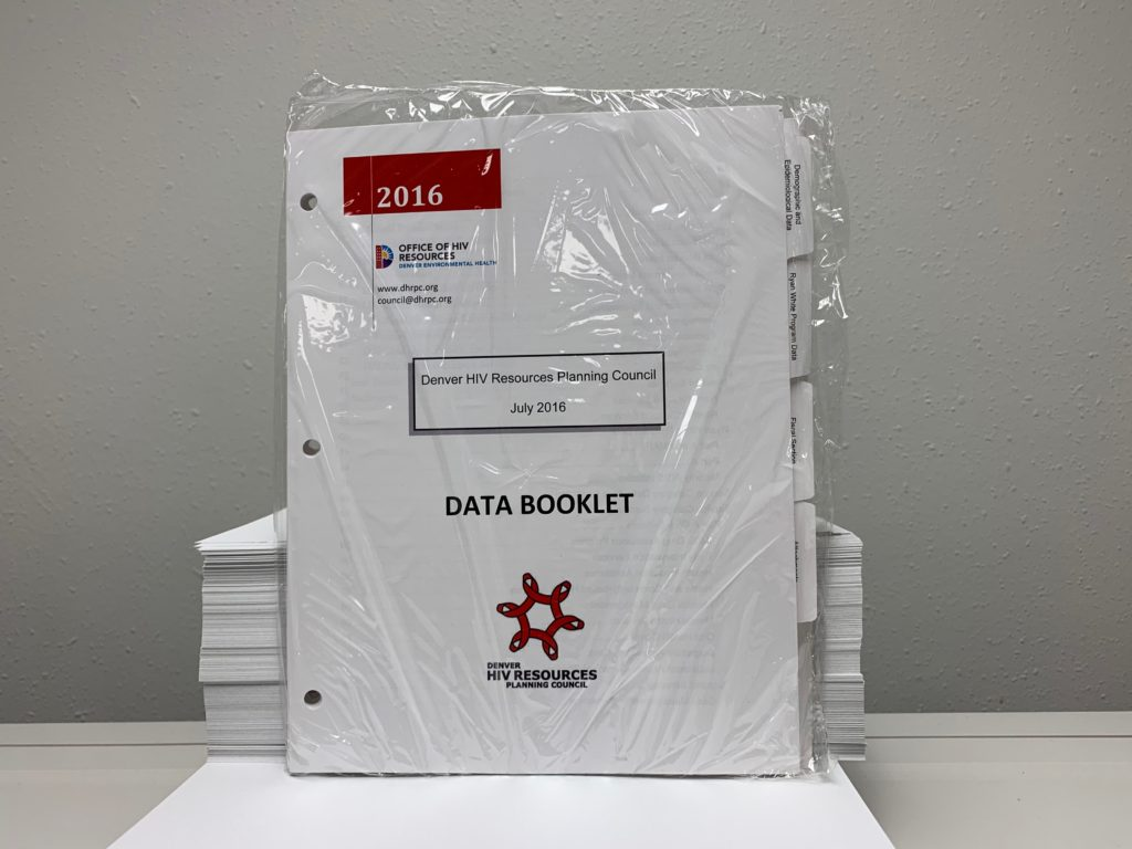 Drilled Booklet With Printed Mylar-Coated Tabs